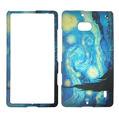Nokia Blue Phone Faceplates (2D Blue Design Nokia Lumia Icon 929 Verizon Case Cover Hard Phone Case Snap-on Cover Rubberized Touch Protector Faceplates)