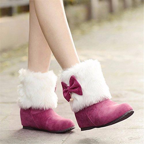 Ragazze Di Le Dolci Sollevato Bellezza Interno Rosso Maomao Arco Studenti Stivali Stivali 36 Nodo Y1UBHq