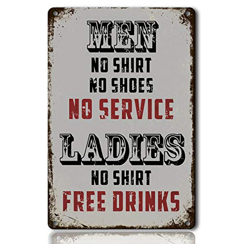 M-Mount Beer Alcohol Free Drinks Funny Tin Signs Vintage Bar Pub Diner Cafe Wall Decor Home Decor Retro Art Poster Sign 8X12Inch ()