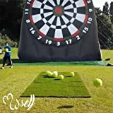 SSELF Outdoor Inflatable Soccer Darts Board with 6pcs Inflatable Ball for Sports Game(10X10ft)