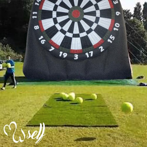 self Outdoor Inflatable Soccer Darts Board with 6pcs Inflatable Ball for Sports Game (10×10ft, inflatable soccer Darts Board)