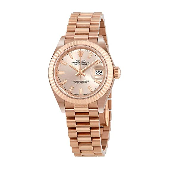 Amazon Com Rolex Lady Datejust 28 Sundust Dial 18k Everose Gold