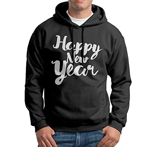 FDLB Men Happy New Year Camping Classic Hoodie Hoodies S Black