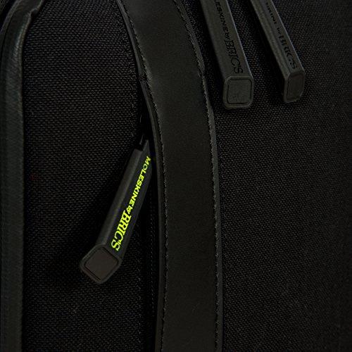 Bric's Shoulder Shoulder Moleskine Bag Moleskine Bric's Black Black Bag qpwqBU