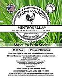100 Pack Mintronella Natural Mosquito & Gnats Patio