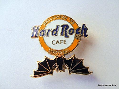 Hard Rock Cafe Montreal Halloween 1998 HRC Logo With Black Bat Pin -