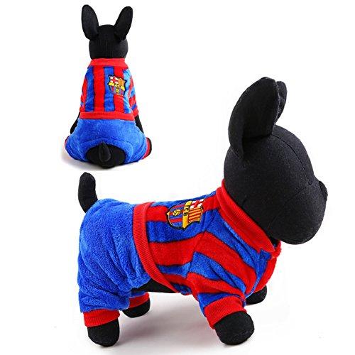 Dimart 2016 New Dog Clothes Hot Sale Fashion Winter Cloth Barca Team Uniforms Style L Size -