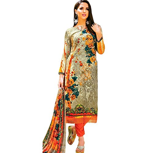 Ready Made Ethnic Print Lace work Cotton Salwar Kameez Suit Indian