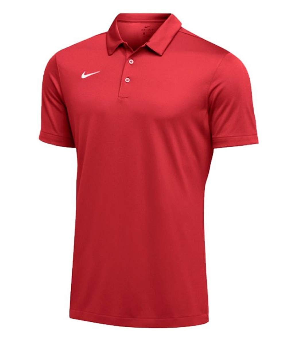 Nike Mens Dri-FIT Short Sleeve Polo Shirt 4X-Large, Red by Nike