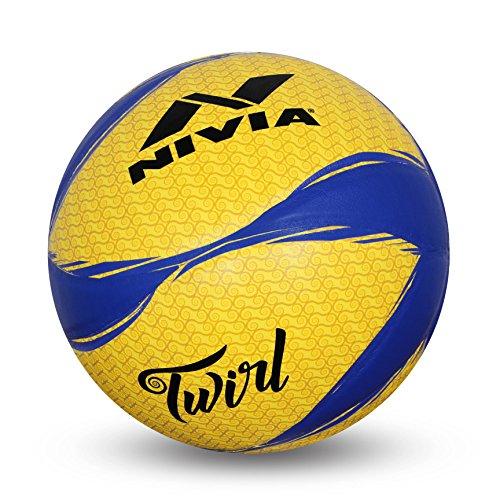 Nivia Twirl Volleyball, Size 4  Yellow/Blue