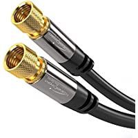 KabelDirekt Digital Coaxial Audio Video Cable (25ft) Satellite Cable Connectors - Coax Male F Connector Pin - Coax Cables for Satellite Television - PRO Series