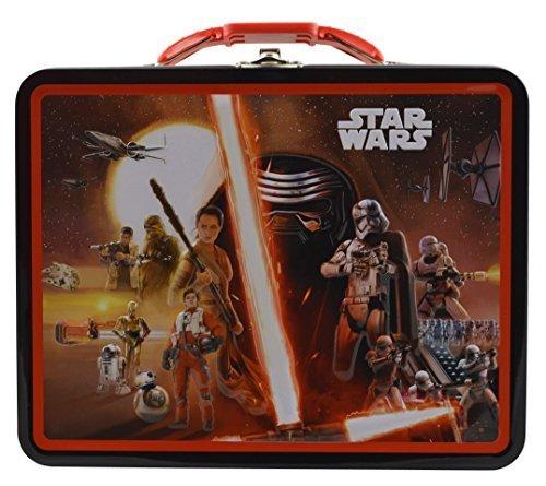 Disney Star Wars The Force Awakens 3D Design Embossed - Metal Tin Lunch box (Black)