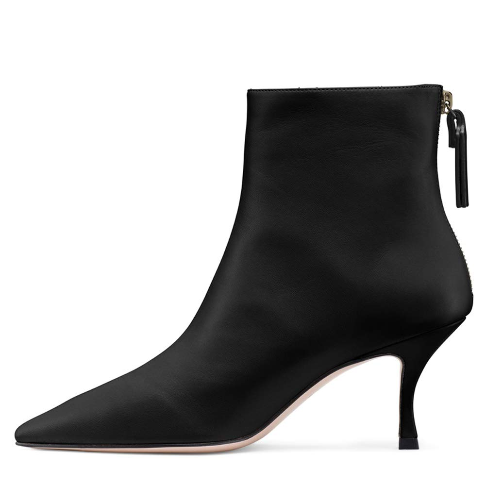 cc2215281cf Sock Boots for Women,Women's Slip On Pointed Toe Mid Calf Boots Stretchy  Suede Kitten Heel Booties