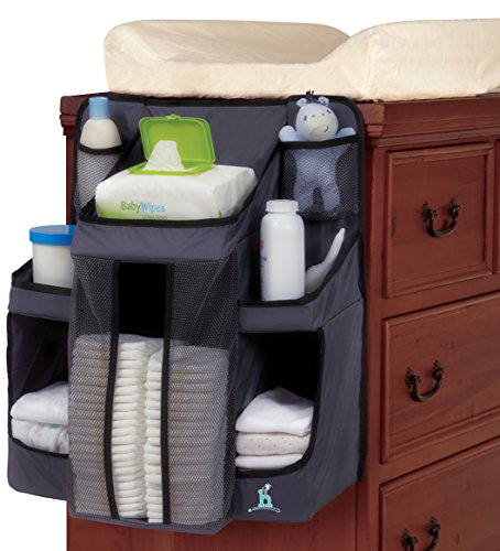 Hiccapop nursery organizer and baby diaper caddy hanging for Nursery hanging storage