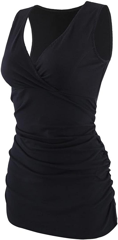 ZUMIY Still-Top Rennfahrer Zur/ück Schwangeres Stillshirt aus Baumwolle Umstandsmode T-Shirt Damen Still Umstands-Top mit Doppelter /Öffnung