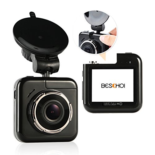Beschoi 1080p mini Dash Cam with 32GB Card, 170°Wide-Angl...