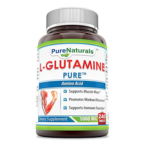 Pure Naturals L-Glutamine 1000 mg Tablets, 240 Count