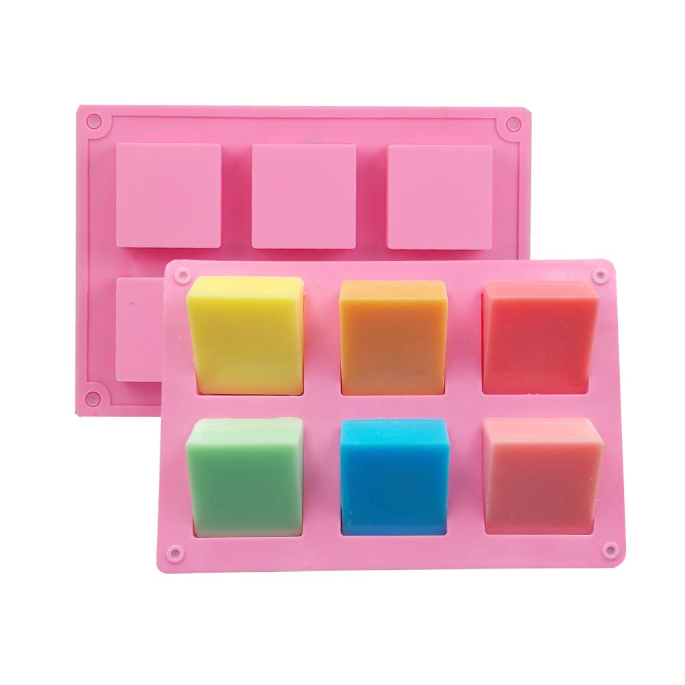 Soap Silicone Molds 2pcs 12 Cavities Square Baking Mold for Soap Candles and Jelly Inn Diary
