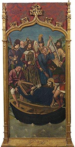 Oil Painting 'Bernat Martin Traslado Del Cuerpo De Santiago El Mayor Ante El Palacio De La Reina Lupa 1480 90' 18 x 35 inch / 46 x 89 cm , on High Definition HD canvas prints, Game Room, Hallw decor (24 Ch Lighting Console)
