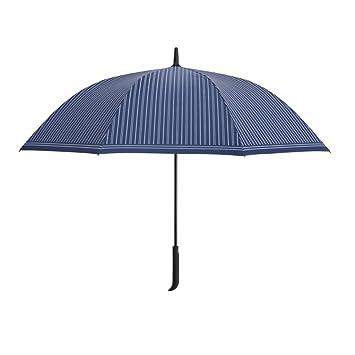 GYB paraguas Paraguas de hombre recto de vástago de rayas hombres 108cm Paraguas a prueba de