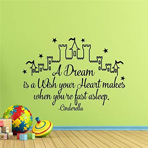 Pegatinas de pared del castillo habitación para niños niña bebé ...