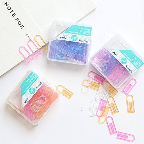 4 set/Lot Color paper clips Total 240 pcs plastic clip for file index book bookmarks Office accessories School