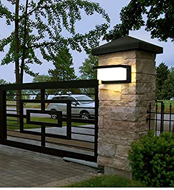 HAOFU 10W LED Apliques de Pared,Lamparas de Pared,impermeable IP65,blanco Neutra 4000K Universal para Decoraci/ón de Casa Jard/ín de Lluminaci/ón de Exterior y Lluminaci/ón de Interior