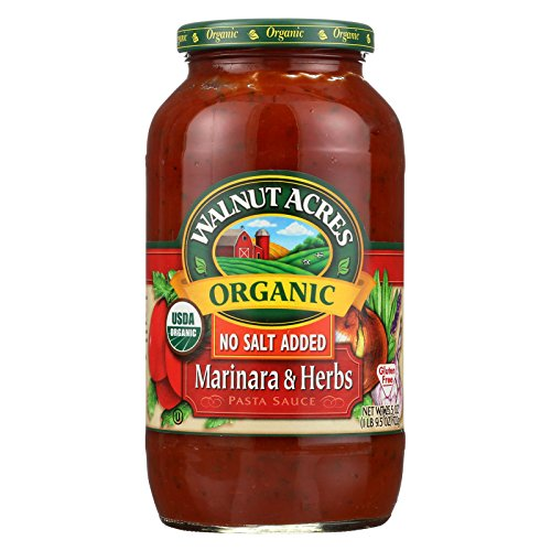 Walnut Acres Organic Sauces - Marinara with Herbs - Case of 12 - 25.5 Fl oz. (Sauce Organic Acres Walnut)