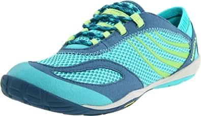 Merrell Women's Barefoot Pace Glove Running Sneaker,Caribbean,10.5 M US