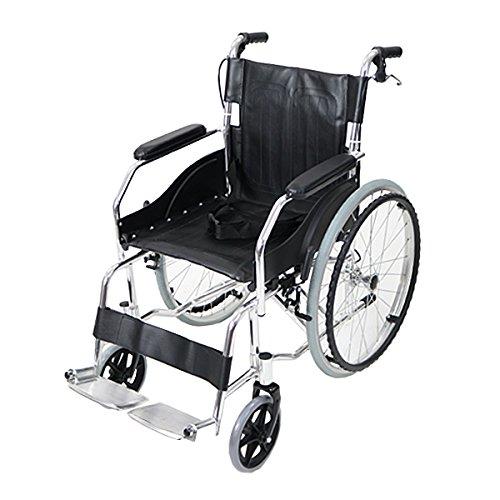 車椅子 アルミ合金製 黒 約11kg 軽量 折り畳み 自走介助兼用 介助ブレーキ付き 携帯バッグ付き ノーパンクタイヤ 自走用車椅子 自走式車椅子 折りたたみ コンパクト 自走用 介助用 自走式 自走 介助 車椅子 車イス 車いす ブラック wheelchairb68bk B01MV0NE55
