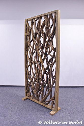 Teaktown Único Teca biombos Madera (205 x 100 cm Teca Madera ...