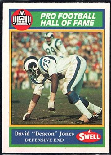 Football NFL 1990 Swell Greats #110 Deacon Jones LA Rams (Deacon Jones Nfl)