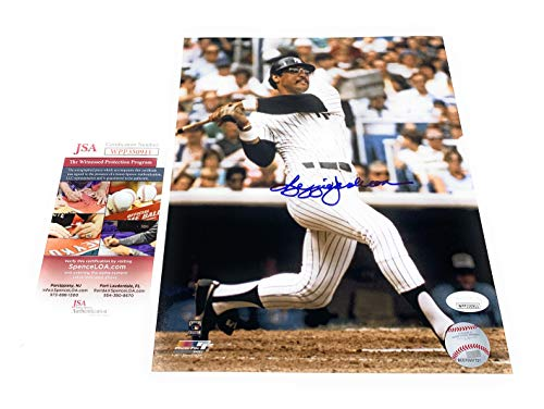 - Reggie Jackson New York Yankees Signed Autograph 8x10 Photo Photograph JSA Witnessed Certified
