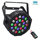 LaluceNatz 24LEDs RGBW Battery Powered Wireless LED Par Lights for Stage Lighting with DMX512 and Remote Controlled for Wedding Up lighting DJ Lights