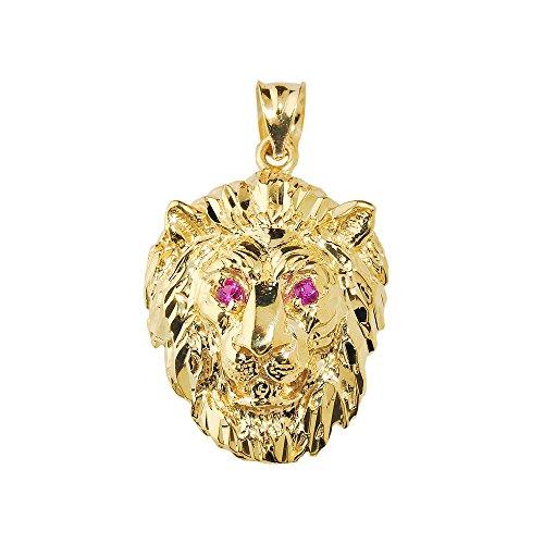 10 ct 471/1000 Or Jaune Diamant Coupe Tete De Lion Pendentif
