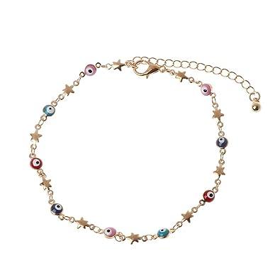 Colorful Enamel Evil Eye Protection Charm Bracelets For Women Fashion Jewelry