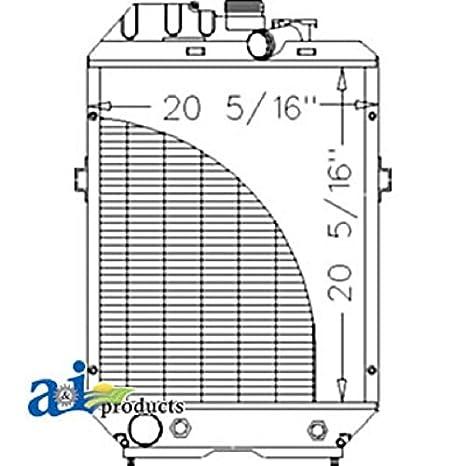 Amazon com: A-82015097 Ford New Holland Parts Radiator TS100