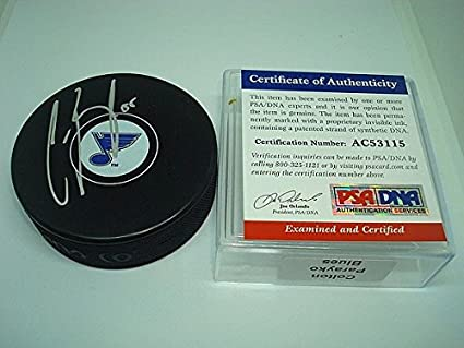 Colton Parayko Signed St. Louis Blues Hockey Puck - PSA DNA Authenticated a8f887e6f