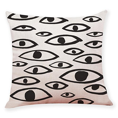 �� Home Decor Cushion Covers,Toponly Black And White Style Printing Throw Pillowcase Pillow Covers (Q, 45 X 45cm) ()