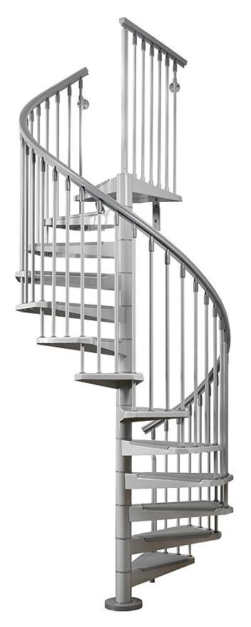 Arke 63u0026quot; Diameter Eureka Galvanized Indoor / Outdoor Spiral Staircase  Kit U2026 (115