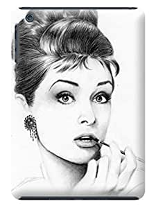 Classic design tpu phone cover with texture for ipadmini of Audrey Hepburn in Fashion E-Mall