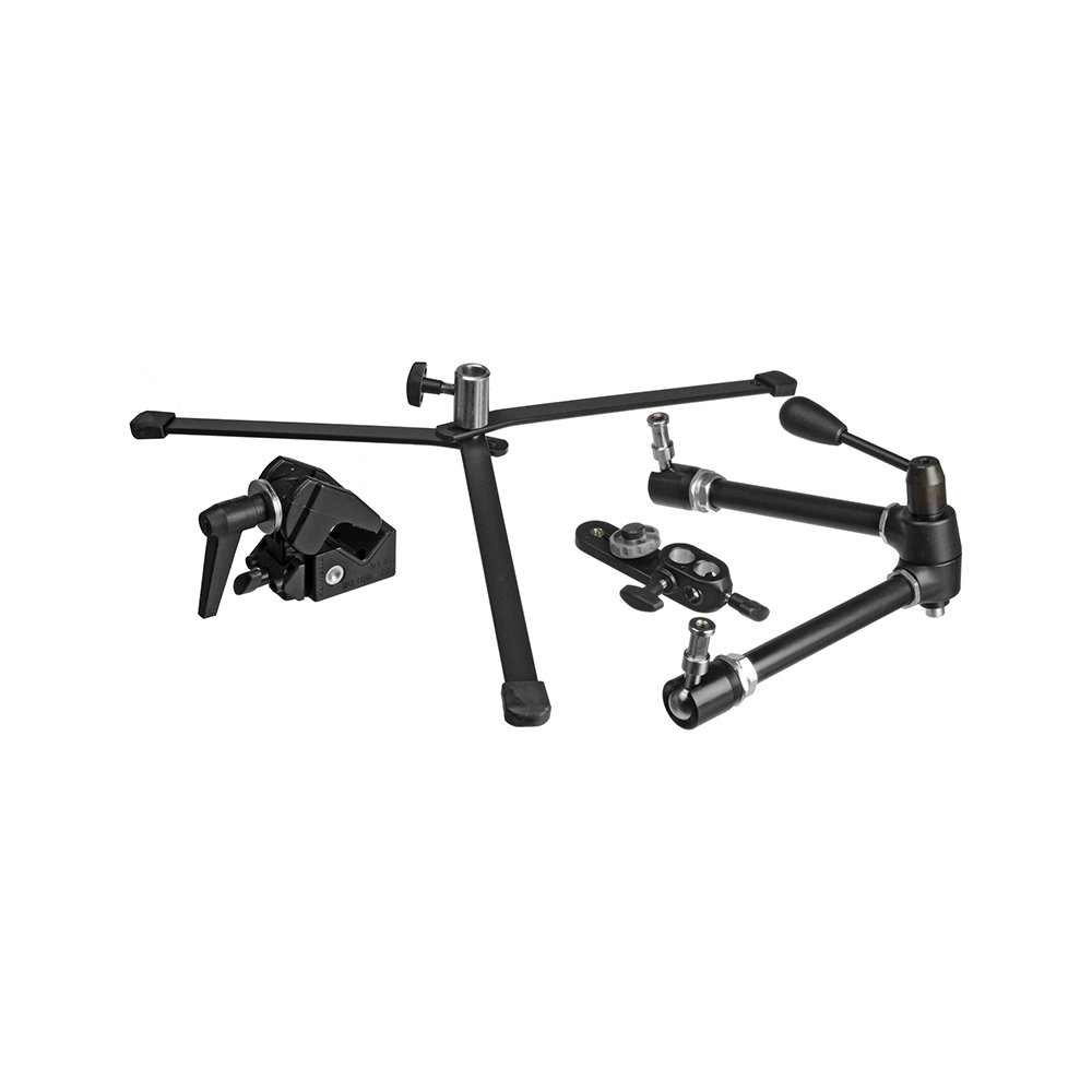 Manfrotto 143 Magic Arm Kit with Umbrella Bracket Super Clamp and Backlite Base