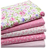 "iNee Pink Fat Quarters Quilting Fabric Bundles for Quilting Sewing Crafting,18"" x 22"""