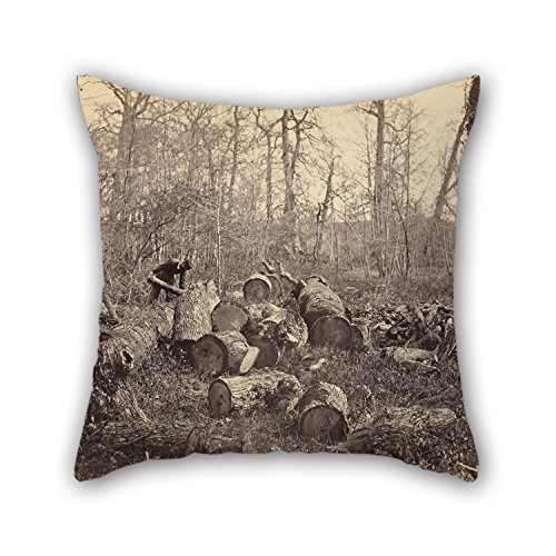 Elegancebeauty Throw Pillow Covers Of Oil Painting Charles Famin (French - (Forêt De Fontainebleau),for Him,saloon,teens Girls,home Theater,bench,shop 18 X 18 Inches / 45 By 45 Cm(double Sides)