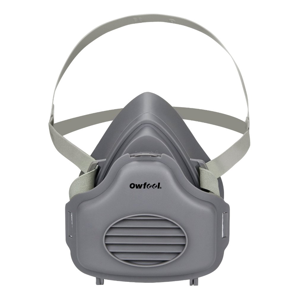Owfeel Half Face Dust Respirator Mask with Adjustable Strap