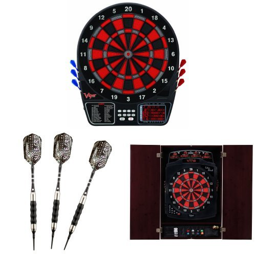 Viper 797 Electronic Dartboard with Soft-Tip Darts and Cabinet Bundle by Viper