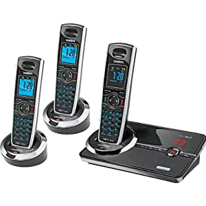 Uniden DECT 6.0 Black Cordless Telephone System with Interference Free Digital Technology (DECT3080-3)