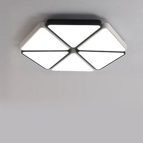 moderno justo luz de techo LED diseño Colocación de blanco y ...