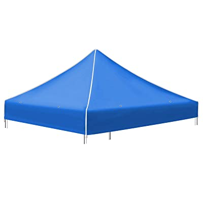 Strong Camel Pop up 10'X10' Canopy Replacement Top Ez Gazebo Replacement Canopy Top (Blue) : Garden & Outdoor