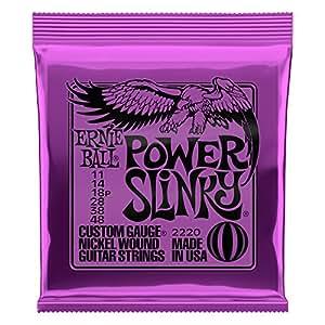 Ernie Ball 2220 Power Slinky Electric Guitar Strings - Nickel - 11-48